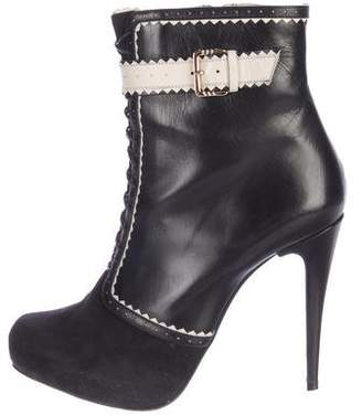 Jason Wu Suede Platform Ankle Boots