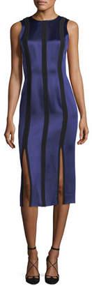 Diane von Furstenberg Sleeveless Tailored Paneled Dress