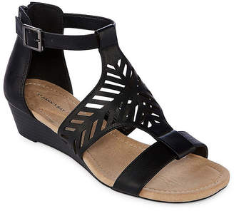 ST. JOHN'S BAY Nikita Womens Wedge Sandals