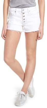 Hudson Jeans Zoeey Button Fly High Waist Denim Shorts
