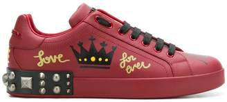 Dolce & Gabbana printed studded sneakers