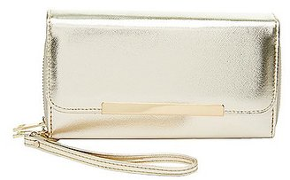 Gold-Tipped Double Zipper Wristlet Wallet $12.99 thestylecure.com