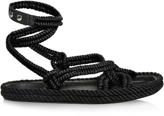 ISABEL MARANT Lou wraparound rope sandals $585 thestylecure.com