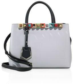 Fendi 2Jours Studded Leather Shopper $2,450 thestylecure.com