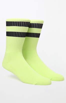 Neon Gym Stripe Crew Socks