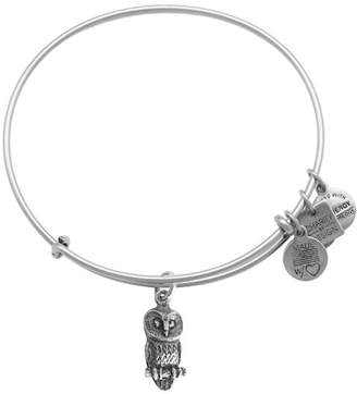Alex and Ani Ode to Owl Charm Expandable Wire Bracelet