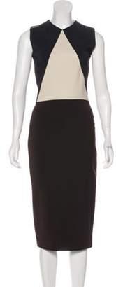 Victoria Beckham Colorblock Midi Dress Colorblock Midi Dress
