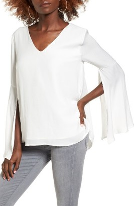 Women's Leith Split Sleeve Top $59 thestylecure.com