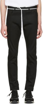 Sasquatchfabrix Black Slit Skinny Trousers $315 thestylecure.com