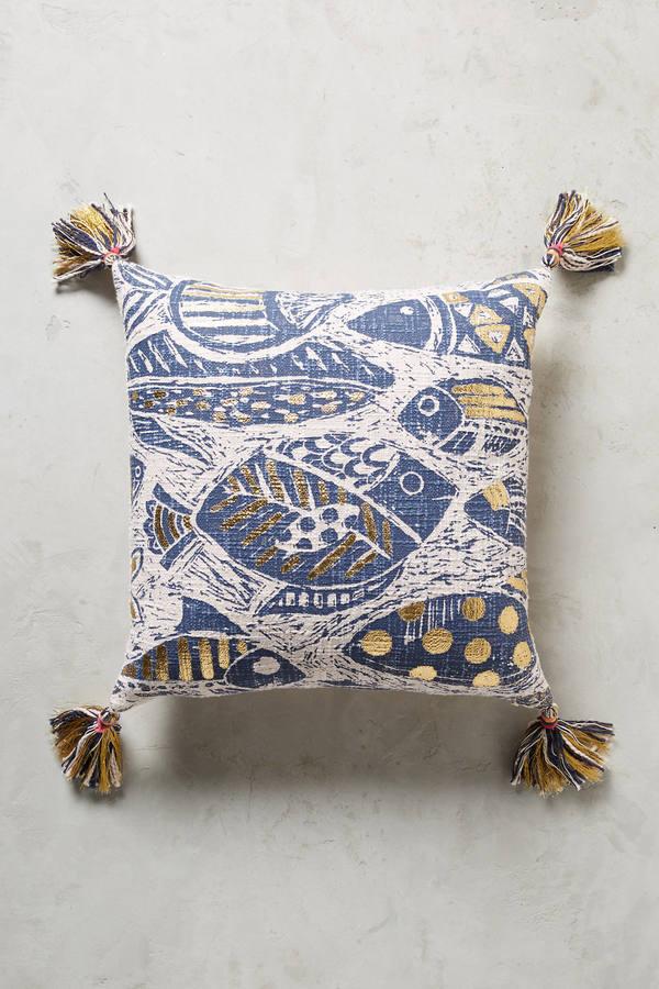 AnthropologieAnthropologie Foil-Printed Aquatic Pillow