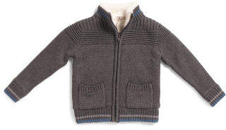 Toddler Boys Cardigan With Elbow Patches