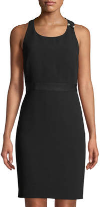 Karl Lagerfeld Paris Bow-Back Sleeveless Sheath Dress
