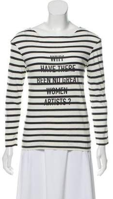 Christian Dior Long Sleeve Graphic Stripe Top w/ Tags