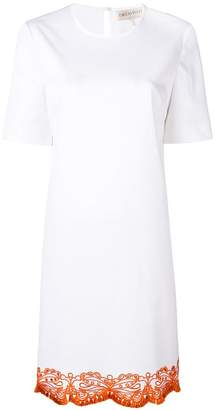 Emilio Pucci embroidered hem T-shirt dress
