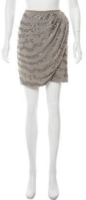 Christian Dior Silk Embelished Mini Skirt