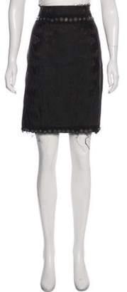 Lanvin Jacquard Embellished Skirt Brown Jacquard Embellished Skirt