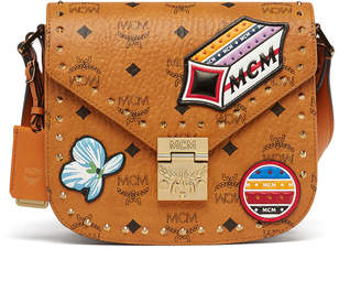 MCM Patricia Shoulder Bag In Victory Patch Visetos