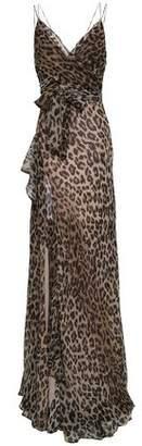 Nicholas Ruffled Leopard-print Silk-georgette Maxi Dress
