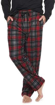 Chaps Big & Tall Plaid Fleece Sleep Pants