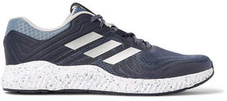adidas Sport - Aerobounce ST Rubber-Trimmed Mesh Running Sneakers - Men - Gray