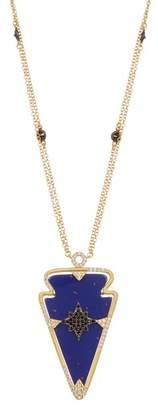 Freida Rothman Indigo Armour Arrow Pendant Necklace