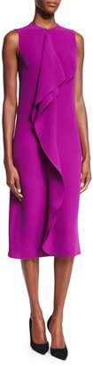 Ralph Lauren Collection Ruffle-Front Sheath Dress, Berry $1,750 thestylecure.com