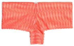 Heidi Klum Intimates Crocheted Lace Low-Rise Briefs