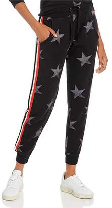 Vintage Havana Striped-Trim Star Print Jogger Pants