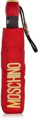 Moschino Metal Signature Red Mini Umbrella