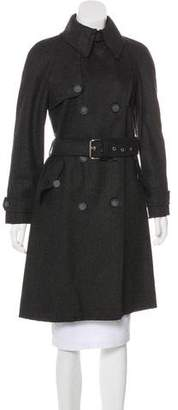Dolce & Gabbana Wool-Blend Trench Coat