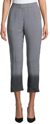 Piazza Sempione Ombre Checked Pull-On Crop Pants