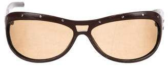 Bottega Veneta Leather Tinted Sunglasses