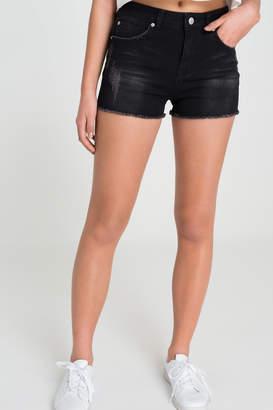 Ardene High Waist Ripped Jean Shorts