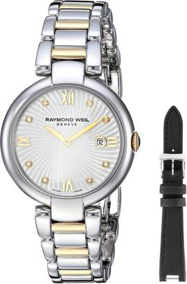 Raymond Weil Women's 'Shine' Quartz Stainless Steel Dress Watch, Color:Two Tone (Model: 1600-STP-00995)