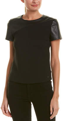 Armani Exchange Lurex Paneled Blouse