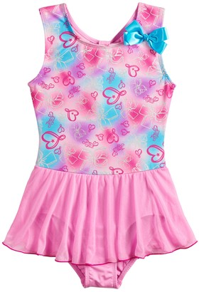 Danskin Girls 4-14 JoJo Siwa Gradient Hearts Dance Skirtall Leotard