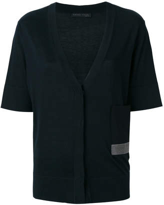 Fabiana Filippi metallic pocket half sleeve cardigan