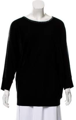 Magaschoni Silk Embellished Sweater