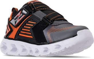 Skechers Boys' Preschool S Lights: Hypno-Flash 2.0 - Rapid Quake Light-Up Hook-and-Loop Running Shoes