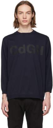 Comme des Garcons Homme Homme Navy Logo Sweatshirt