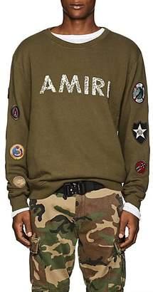 Amiri Men's Patch-Appliquéd Cotton Sweatshirt - Olive