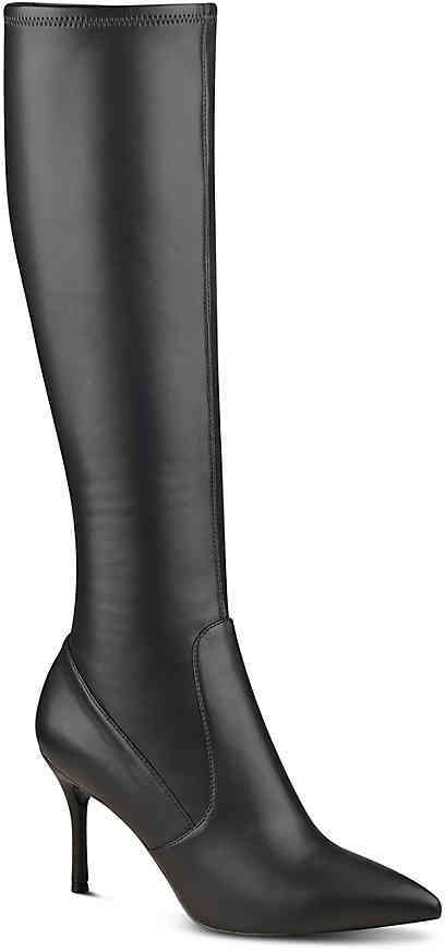 Nine West Women's Calla Boot -Black Faux Patent