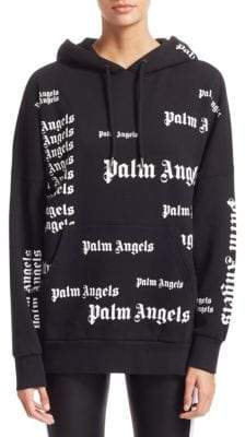 Palm Angels Ultra Logo Cotton Hoodie