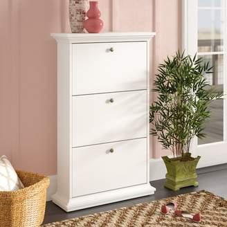 Beachcrest Home Breckenridge 21-Pair Shoe Storage Cabinet
