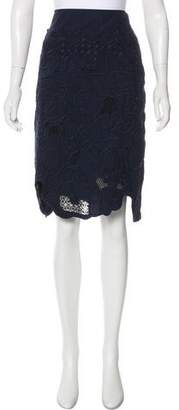 Tsumori Chisato Embroidered Scallop Hem Skirt