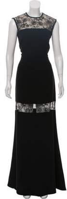 Elie Saab Lace-Trimmed Evening Dress Black Lace-Trimmed Evening Dress
