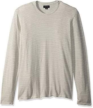 Velvet by Graham & Spencer Men's Velvet's Stripe Pique Long Sleeve Crew Shirt