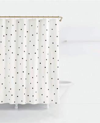 Kate Spade Deco Cotton Dot-Print Shower Curtain Bedding