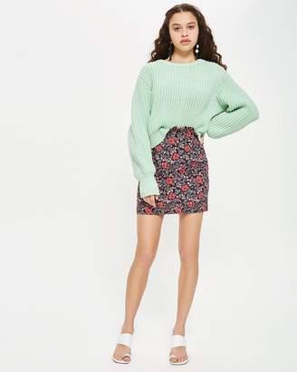 PETITE Poppy Jacquard Mini Skirt