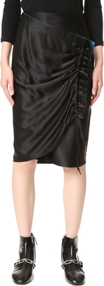 DKNY Wrap Skirt with Contrast Trim $298 thestylecure.com